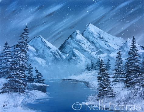 bob ross viewer paintings newshour fans take the bobrosschallenge and the results