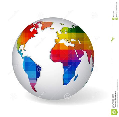 world s ugliest color rainbow colored glob icon stock vector image of abstract 41632661