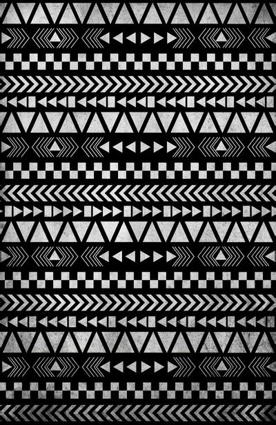 tribal pattern black and white wallpaper tribal print in black and white art print by gathered nest