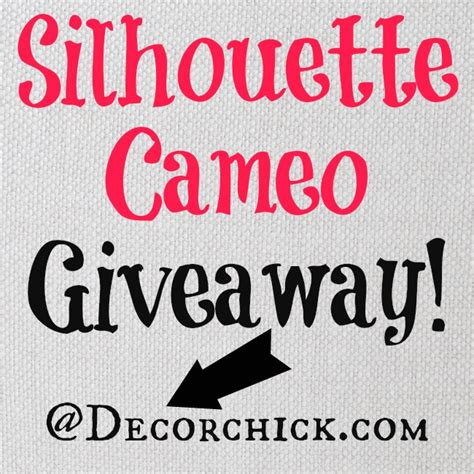 silhouette cameo giveaway decorchick 174 - Silhouette Giveaway
