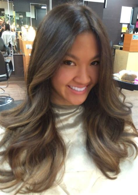 asian hairstyles brown hair ash brown ash and highlights on pinterest