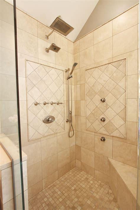 large modern standing shower bathrooms