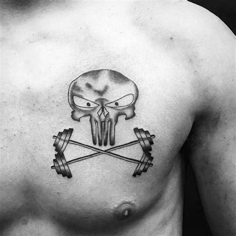 barbell tattoo designs  men bodybuilding ink ideas