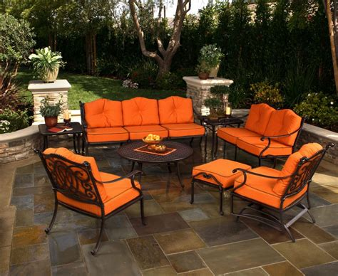 Orange Patio Furniture with Furniture Orange Outdoor Chaise Lounges Patio Chairs