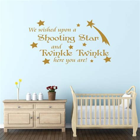 Baby Wall Decals For Nursery Baby Nursery Decor Shooting Baby Wall Stickers For Nursery Twinkle Wished Removable