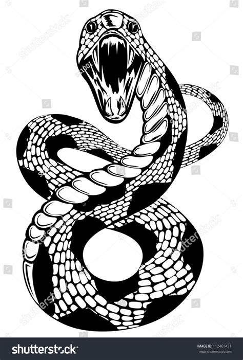 clipart illustrations vector illustration of snake with an open on white