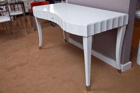 Barbara Barry Desk white lacquered desk vanity barbara barry for baker at 1stdibs