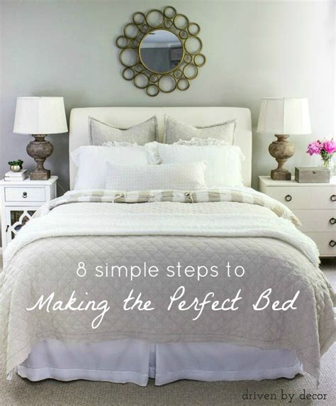 bedding ideas 8 simple steps to making the perfect bed driven by decor