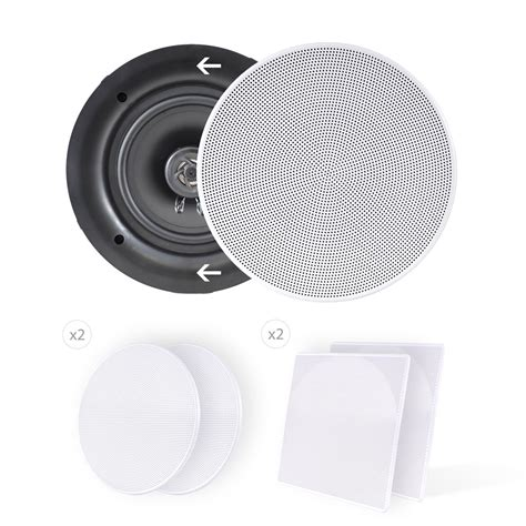 Flush Mounted Ceiling Speakers by New Pyle Pdic56 Pair Of 5 25 Quot In Wall In Ceiling 150w 2