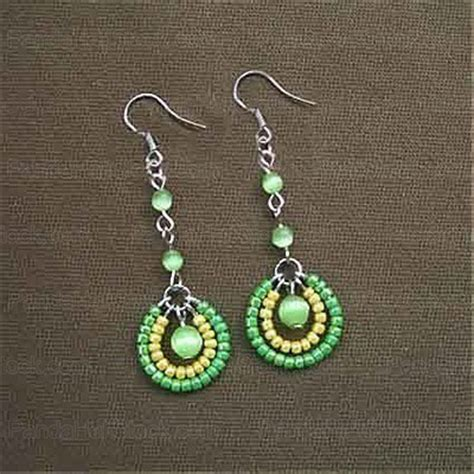 how to make seed bead jewelry how to make seed bead earrings 4 step seed bead