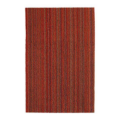 buy chilewich stripe shag rug orange 46x71cm