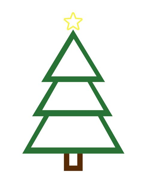 free printable christmas tree clip art 9 best images of christmas outline printable free