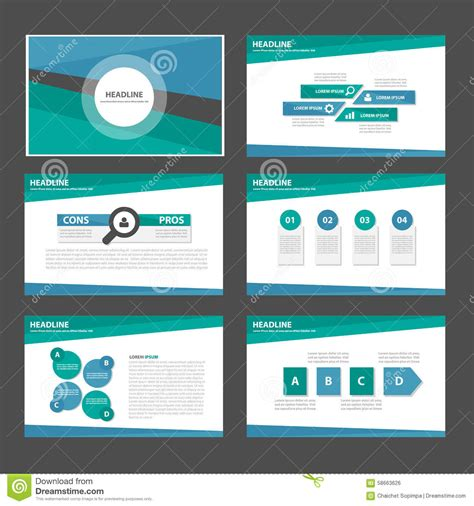 Open Office Presentation Templates Card Layout by Blue And Green Multipurpose Infographic Presentation