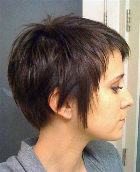 side views of short layered haircuts layered pixie haircuts side view