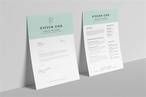 Free Minimalist Resume Cv Design Template With Cover Letter In Doc Indesign Good Resume Indesign Letter Template