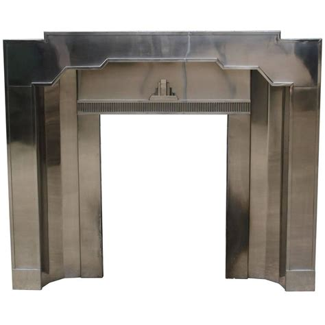 Stainless Steel Fireplace Mantel by Original Stainless Steel Deco Fireplace For Sale At
