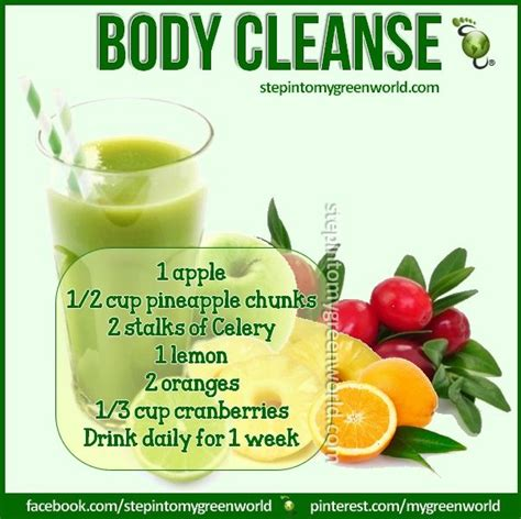 Detox Recipe by Cleanse Juice Recipe Juicing