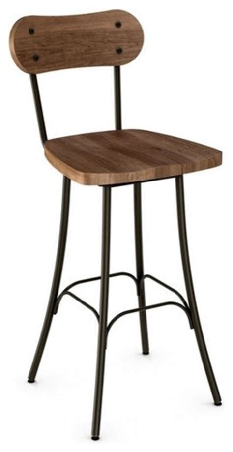 rustic wood swivel bar stools rustic swivel stool with wood seat and backrest counter