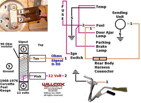 testing boat gauges 1968 1973 corvette fuel gauge test schematic willcox
