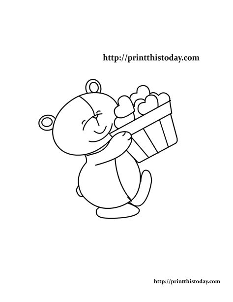 coloring pages of bears holding hearts free printable teddy bear coloring pages