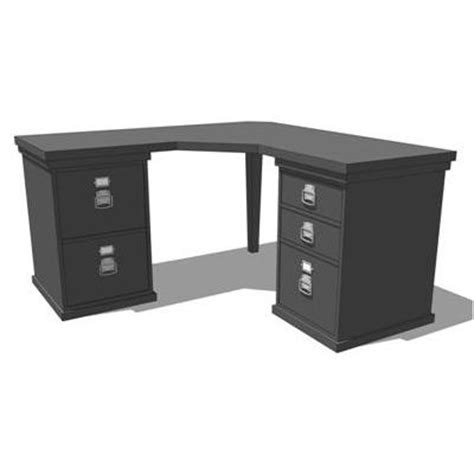 Black Corner Office Desk by Bedford Modular Home Office 3d Model Formfonts 3d Models