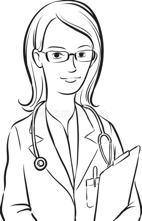 woman doctor coloring page woman doctor coloring pages