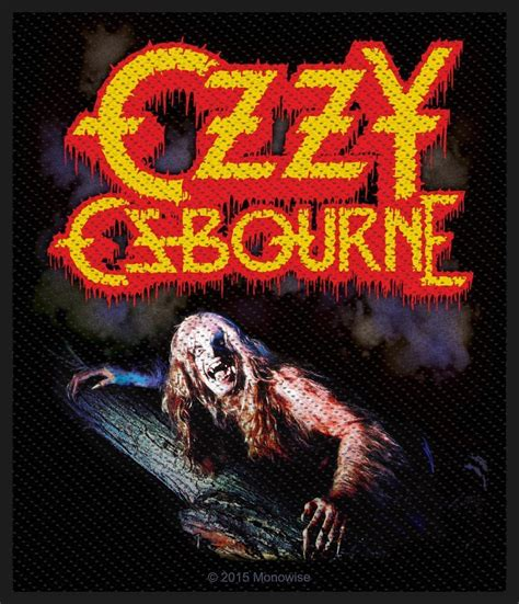 barking at the moon ozzy osbourne bark at the moon woven patch heavy metal