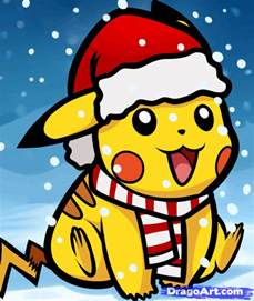 how to draw christmas pikachu step by step christmas
