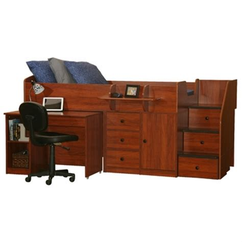 twin bed with desk berg furniture sierra captain s twin bed with pull out