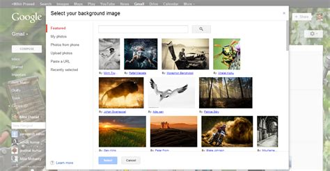 themes for gmail background change gmail background theme with customize background