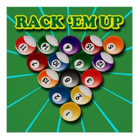 Rack Em by Pool Posters Pool Prints Prints Poster