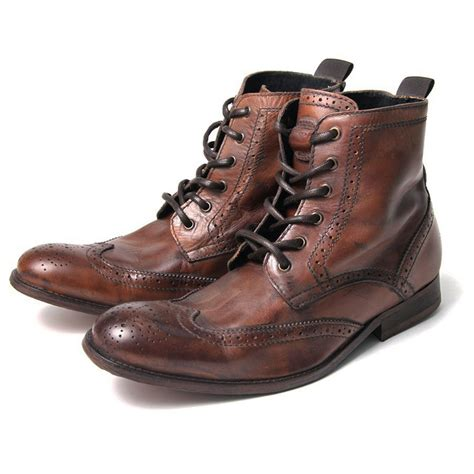 h by hudson boots h by hudson boots angus distressed leather brogue boot
