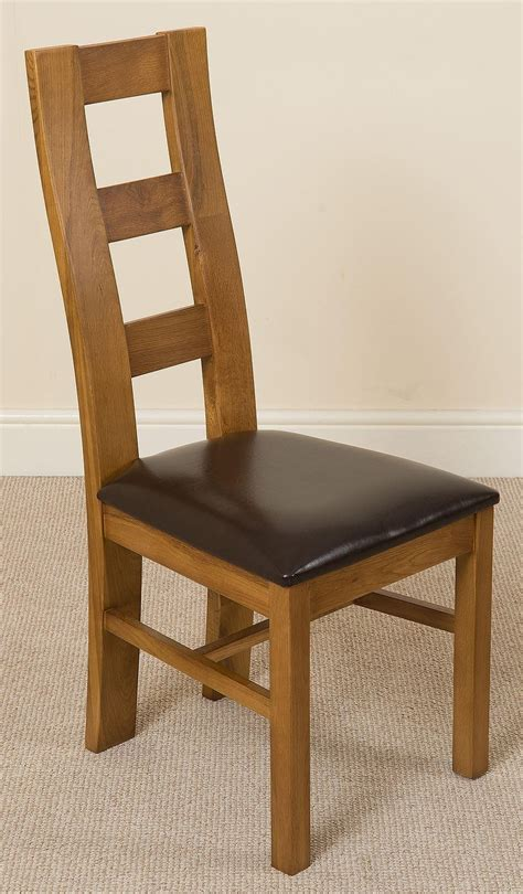 oak and leather dining chairs yale dining chair rustic oak and brown leather