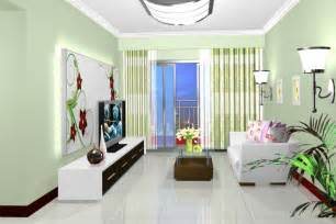 pale green walls in small living room interior design