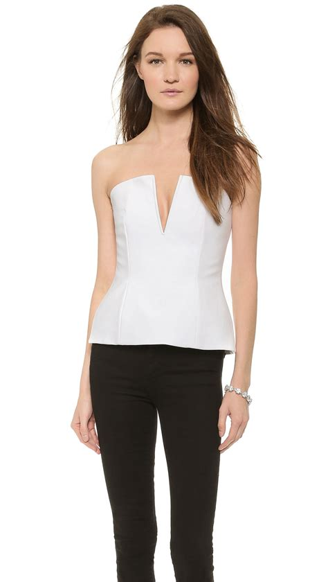 Bustier Tops by Nicholas Bustier Top White In White Lyst