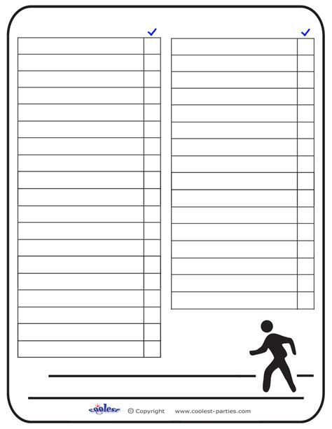 template for scavenger hunt 5 best images of printable blank list blank scavenger