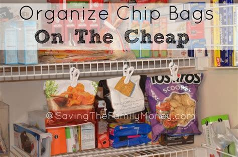 cheap kitchen organization ideas pantry organization ideas organize chip bags on the cheap http savingthefamilymoney