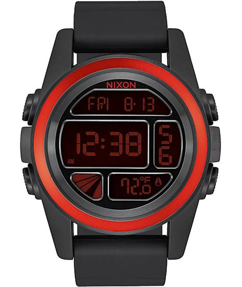 Nixon Unit Digital nixon unit mashed black digital