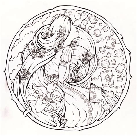 disney art nouveau coloring pages for adults coloring pages