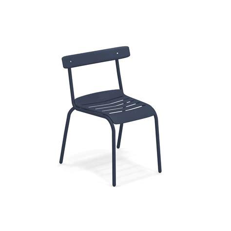 sedia emu sedia da giardino esterno in acciaio collezione miky emu