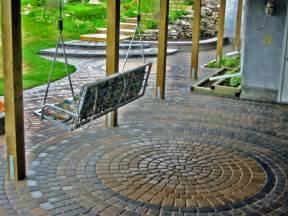 Brick Patio with Steps   Morgan K Landscapes