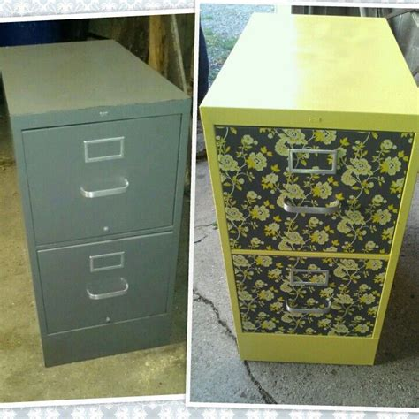 easy filing cabinet makeover using spray paint and