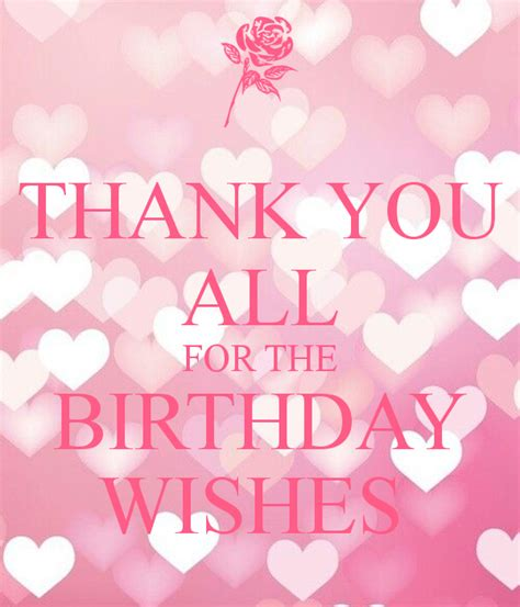 Thank You For The Birthday Wishes Quotes Thankyou For All The Birthday Wishes Profile Facebook