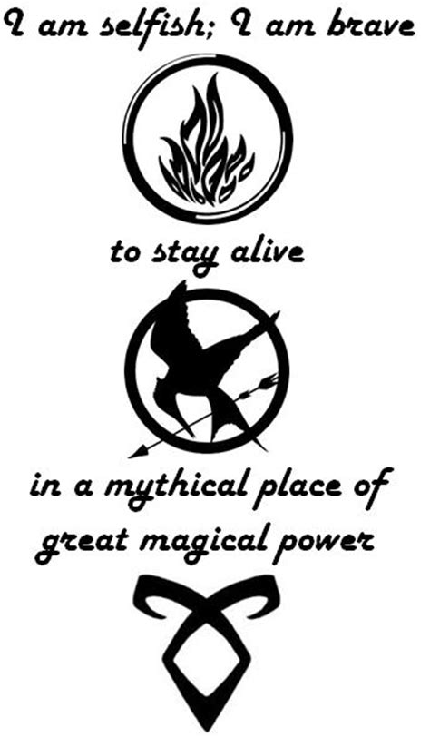 novel design meaning tattoo idea quotes from divergent hunger games and