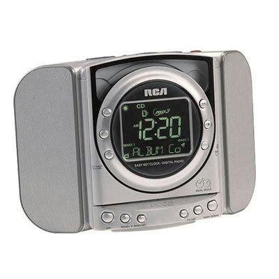 automatic time set clock radio rca rp5640 cd clock radio with auto time set