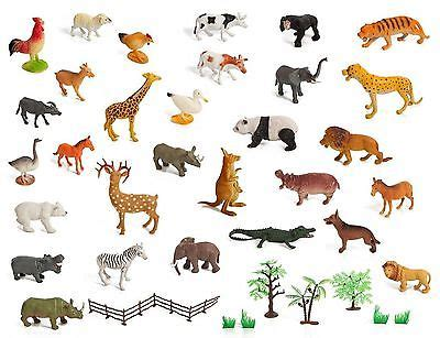 printable animal figures set of 30 large size zoo set wild jungle farm desert