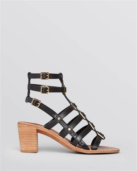 burch gladiator sandals burch gladiator sandals reggie block heel in brown