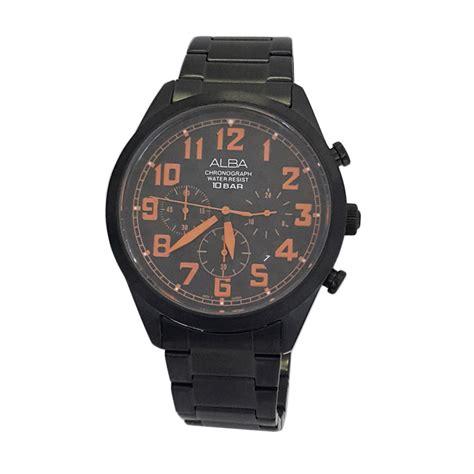 Alba Chrono Black jual alba 160699 chronograph jam tangan pria black