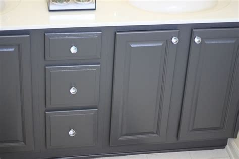 Painting Bathrooms Ideas by My Painted Bathroom Vanity Before And After Two Delighted