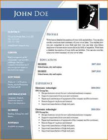 template de cv 7 exemple cv word modele de facture